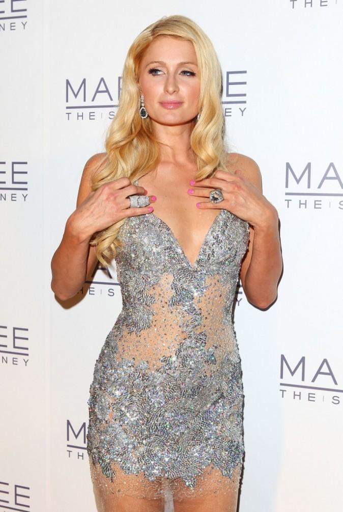 Paris Hilton lors de la soirée d'inauguration du Marquee Nightclub à Sydney, le 29 mars 2012.