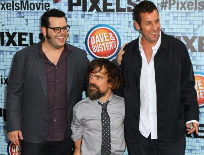 Josh Gad, Peter Dinklage et Adam Sandler le 18 juillet 2015
