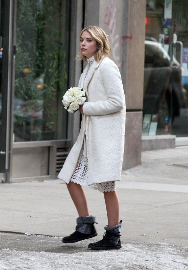 Ashley Benson à New-York le 25 février 2015