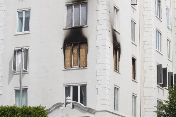 L'appartement d'Ashley Greene aprés l'incendie qui l'a ravagé le 22 mars 2013
