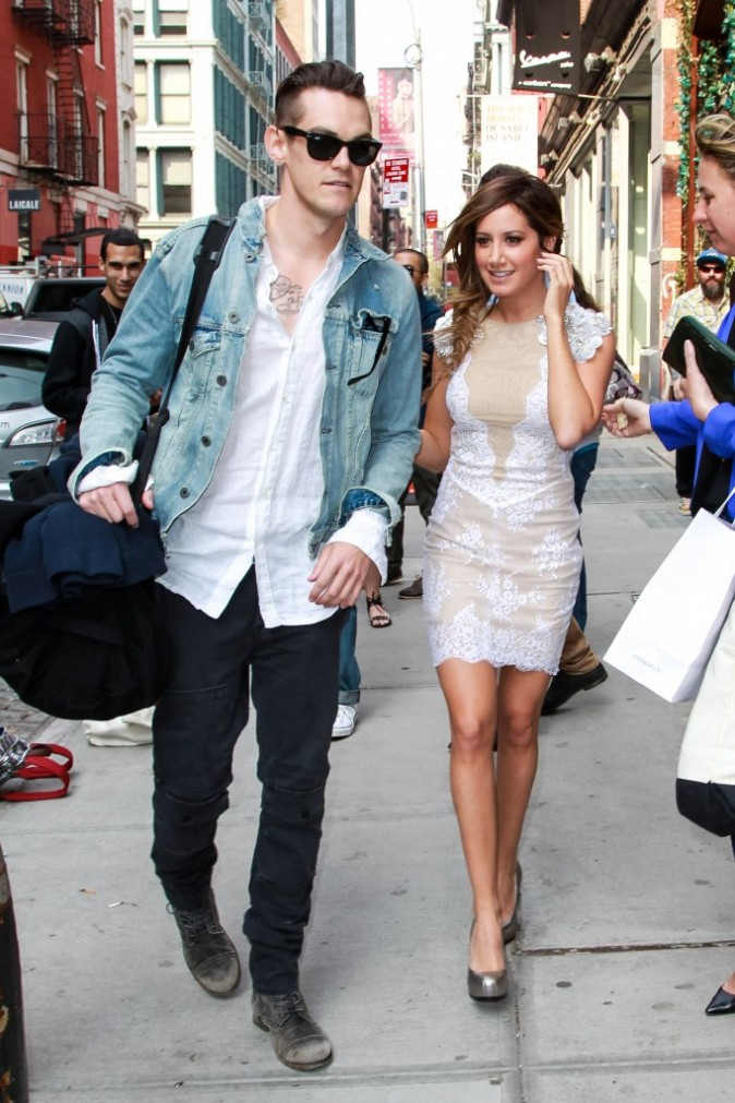 Ashley Tisdale et Christopher French à New York, le 10 avril 2013.