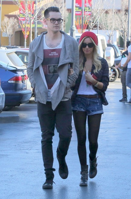 Ashley Tisdale et Christopher French, Los Angeles, 18 janvier 2013.