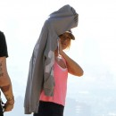 Ashley Tisdale et son boyfriend Christopher French sur les hauteurs de Los Angeles le 14 février 2013