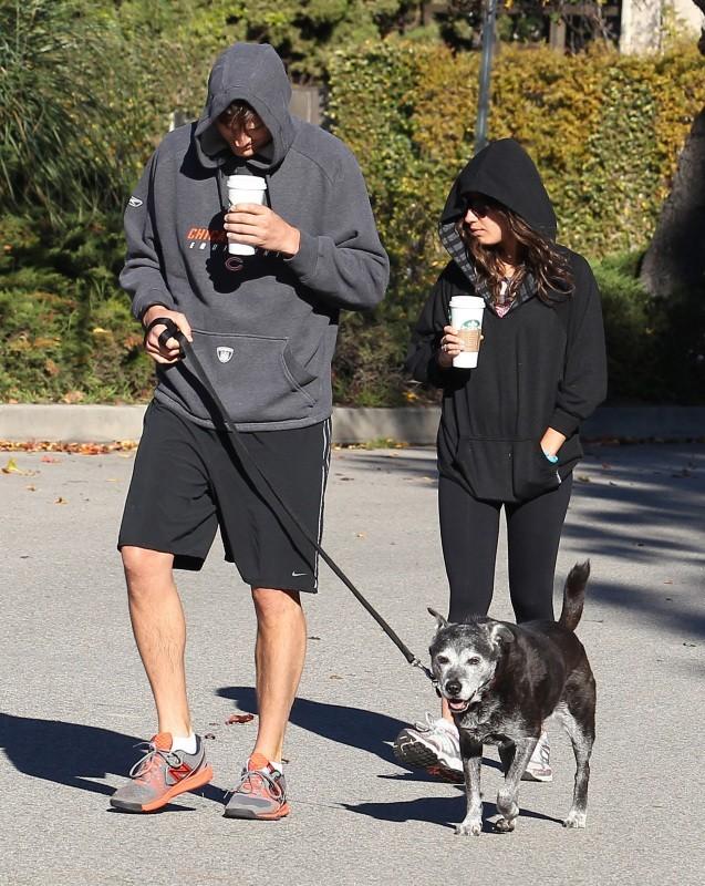 Ashton Kutcher et Mila Kunis le 7 janvier 2013 à Hollywood