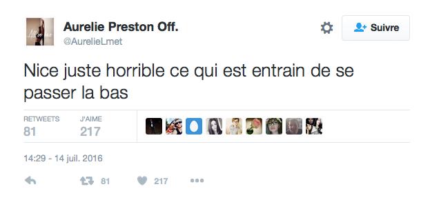 Le message d'Aurélie Preston Lee