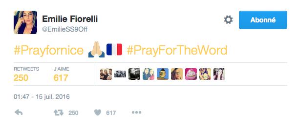 Le message d'Emilie Fiorelli