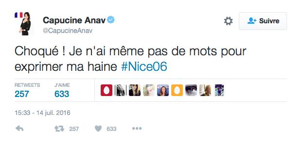 Le message de Capucine Anav