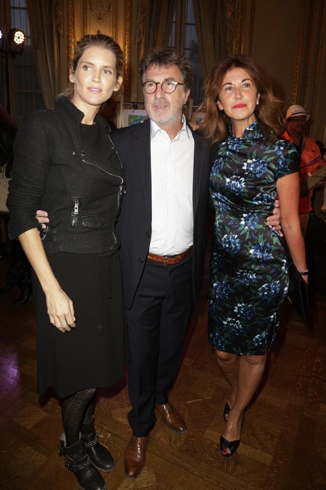 Alice Taglioni, François Cluzet et sa femme à Paris le 22 sseptembre 2015