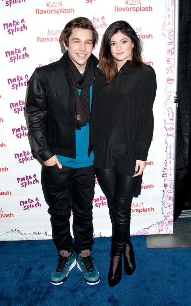 Austin Mahone et Kylie Jenner à New-York le 29 janvier 2014