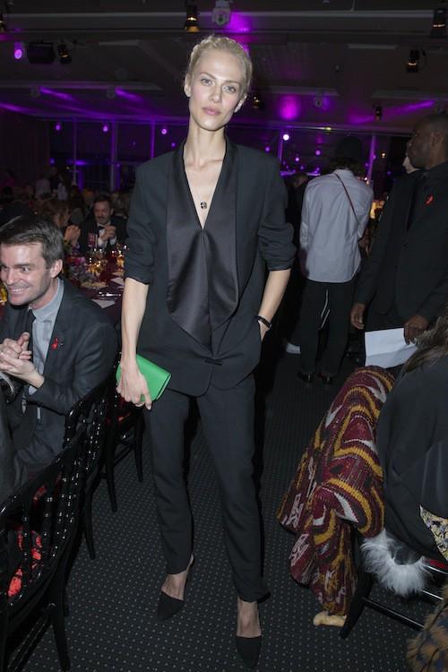 Aymeline Valade au dîner de la mode, le 29 janvier 2015