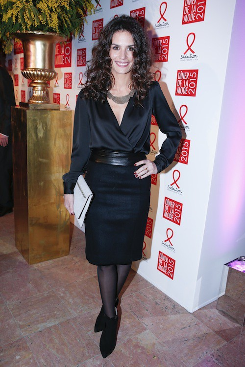 Barbara Cabrita au dîner de la mode, le 29 janvier 2015