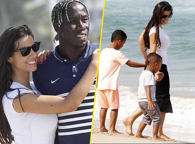 Photos : Mondial 2014 : Bacary Sagna : avec sa jolie petite famille, le Bleu profite de la plage à Rio !