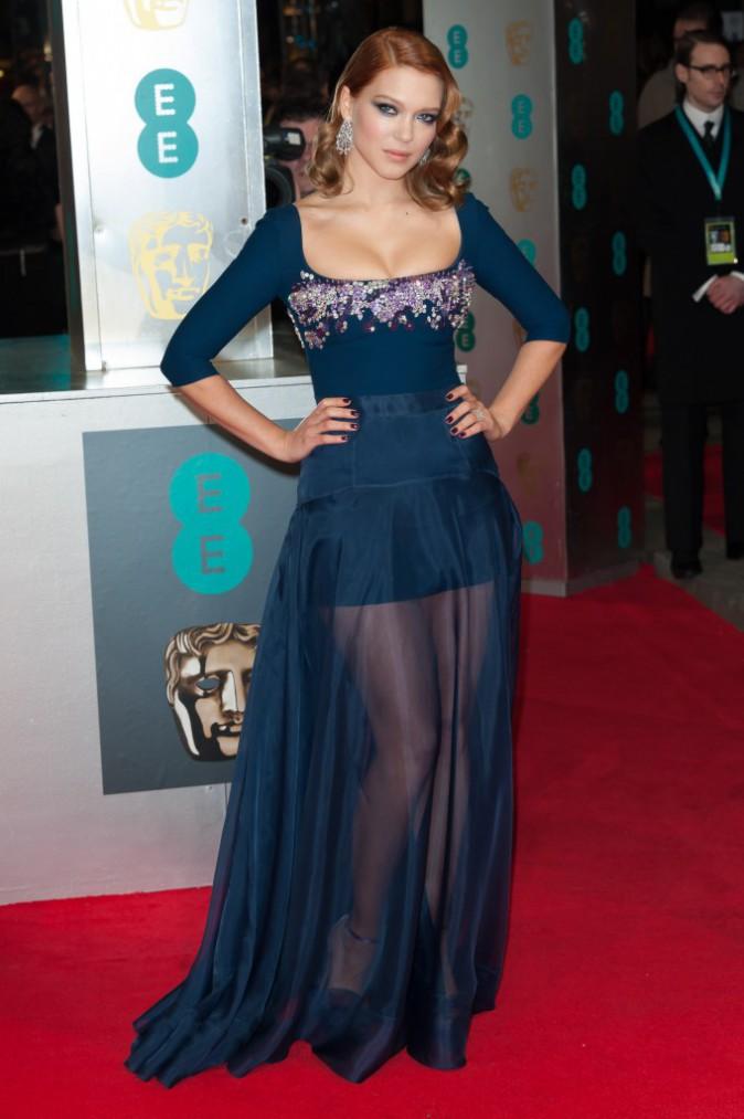 Léa Seydoux lors de la cérémonie des BAFTA Awards à Londres, le 16 février 2014.