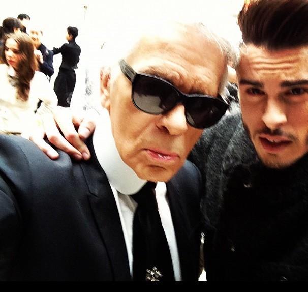 Karl Lagerfeld et sa muse