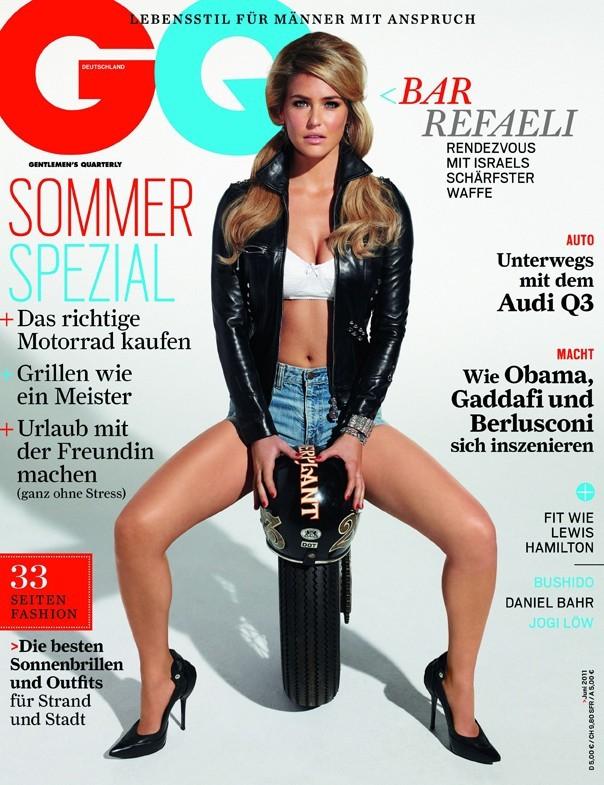 Bar Refaeli en couverture du magazine GQ Allemagne du mois de juin.