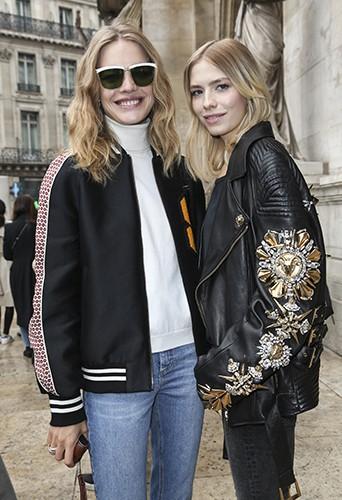 Natalia Vodianova et Elena Perminova à Paris le 29 septembre 2014