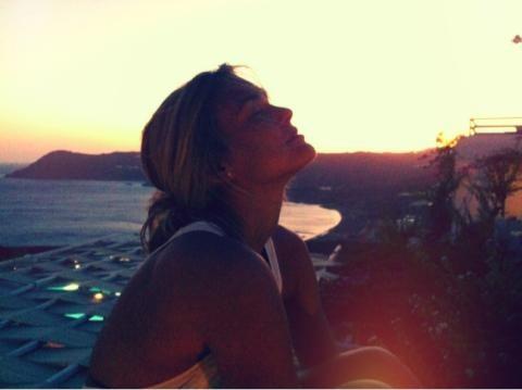 Une belle naïade au soleil couchant ...
