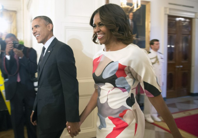 """Photos : Barack et Michelle Obama : Valérie Trierweiler regrette de ne plus pouvoir appeler """"directement"""" la First Lady !"""