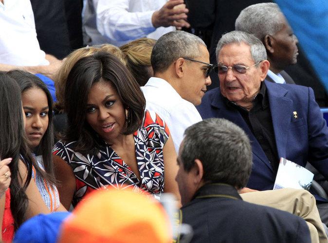 Les Obama et Raul Castro au match de Basebal à Cuba
