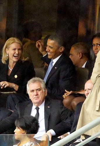 Photos : Barack Obama : tout sourire avec la première ministre danoise et David Cameron, Michelle Obama jalouse ?