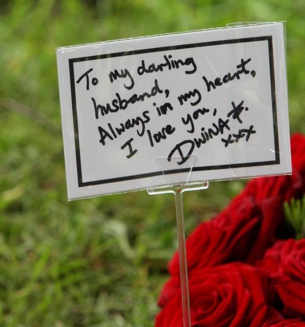 Enterrement de Robin Gibb, le 8 juin 2012.