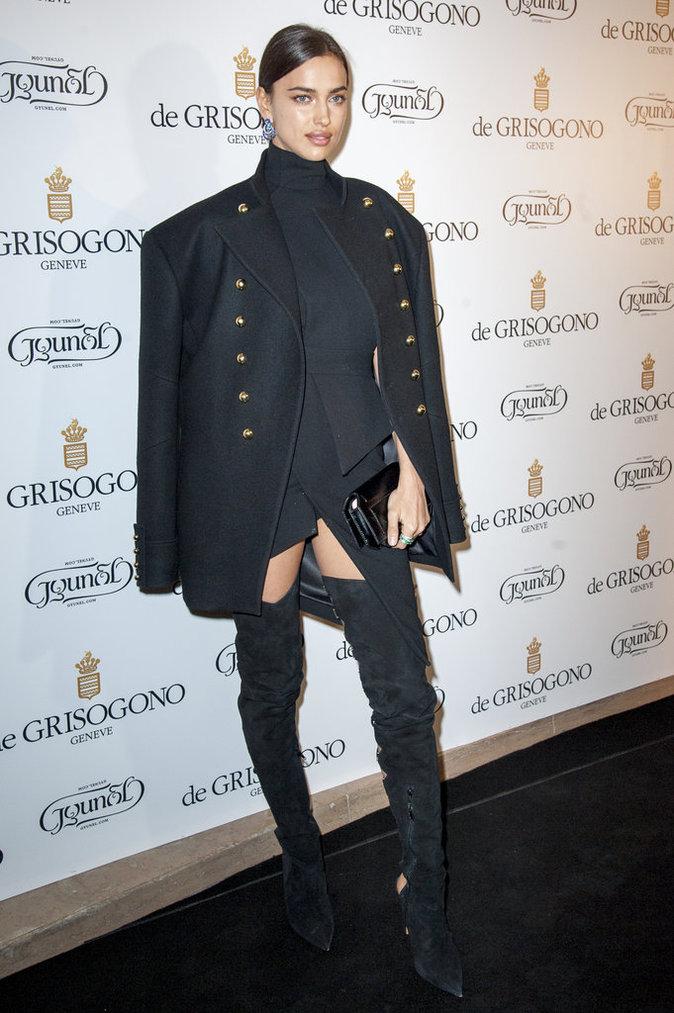 Irina Shayk et Bella Hadid lors de la soirée De Grisogono à Paris