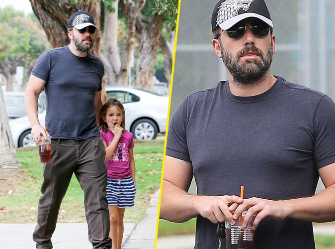 Ben Affleck et sa fille, le 25 août 2015