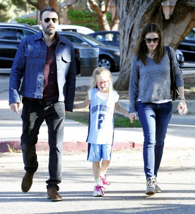 Ben Affleck, sa femme Jennifer Garner et sa fille Violet