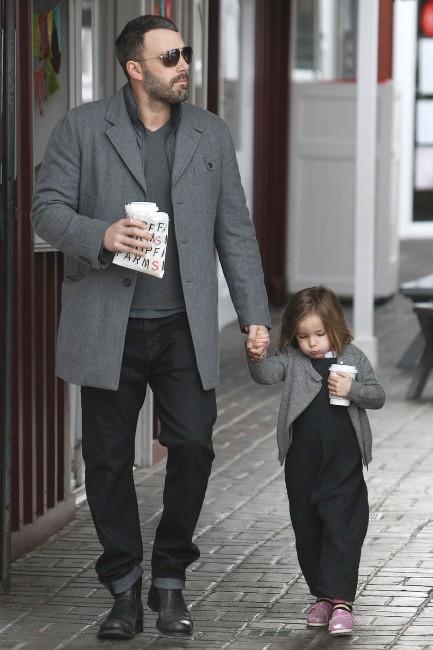 Ben Affleck et Seraphina le 20 mars 2013 à Brentwood