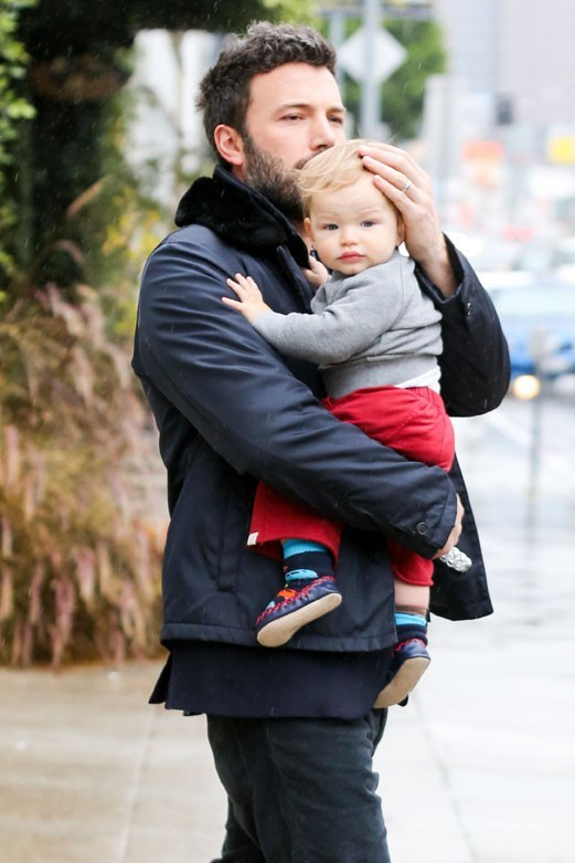 Jennifer Garner et Ben Affleck avec leurs enfants à Los Angeles le 25 janvier 2013