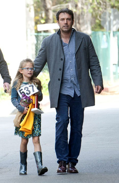 Ben Affleck avec sa fille Violet à Los Angeles le 9 février 2014