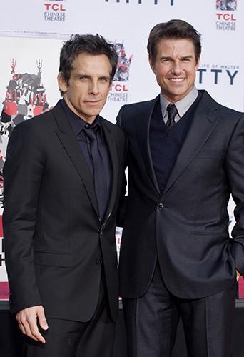 Ben Stiller et Tom Cruise à Los Angeles le 3 décembre 2013