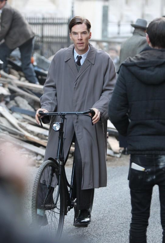 Benedict Cumberbatch en plein tournage de The Imitation Game !