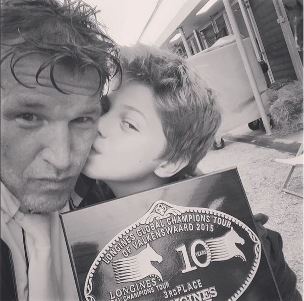 Benjamin Castaldi et son fils Enzo