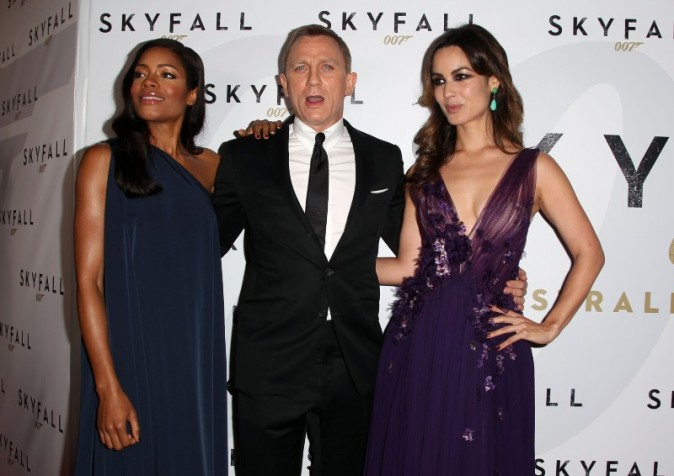 Berenice Marlohe, Daniel Craig et Naomie Harris le 16 novembre 2012 à Sydney