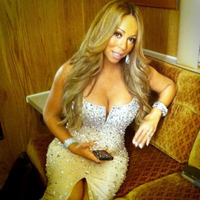Mariah Carey dans sa loge lors des BET Awards à Los Angeles, le 1er juillet 2012.