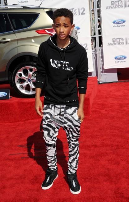 Jaden Smith lors de la cérémonie des BET Awards à Los Angeles, le 1er juillet 2012.