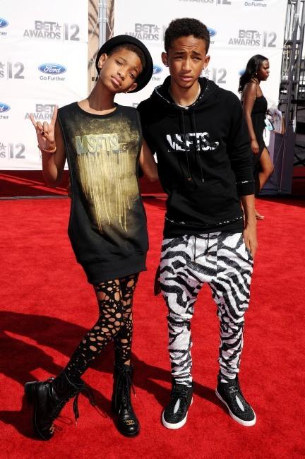 Willow et Jaden Smith lors de la cérémonie des BET Awards à Los Angeles, le 1er juillet 2012.