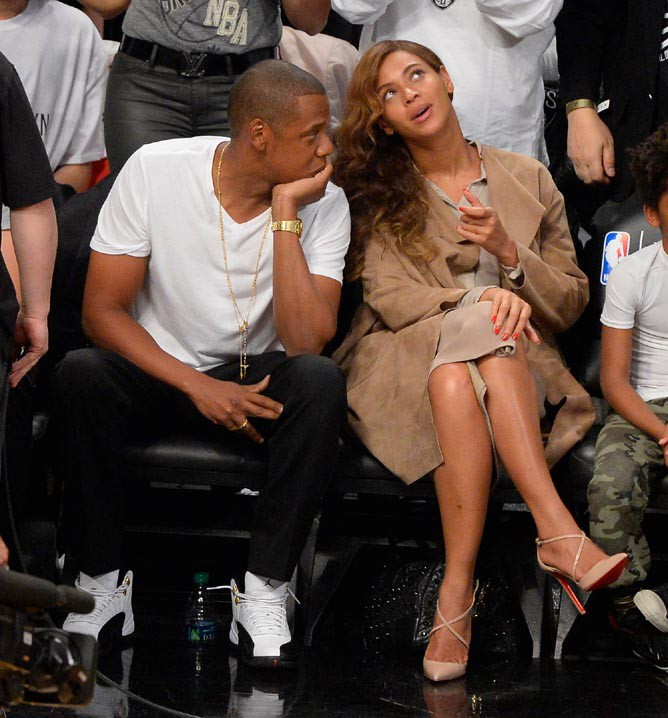 Beyoncé et Jay-Z au Barclays Center de New-York le 10 mai 2014