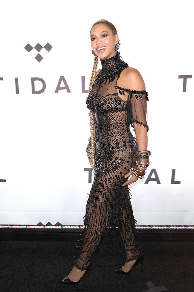Beyoncé lors de la soirée Tidal x 10/15