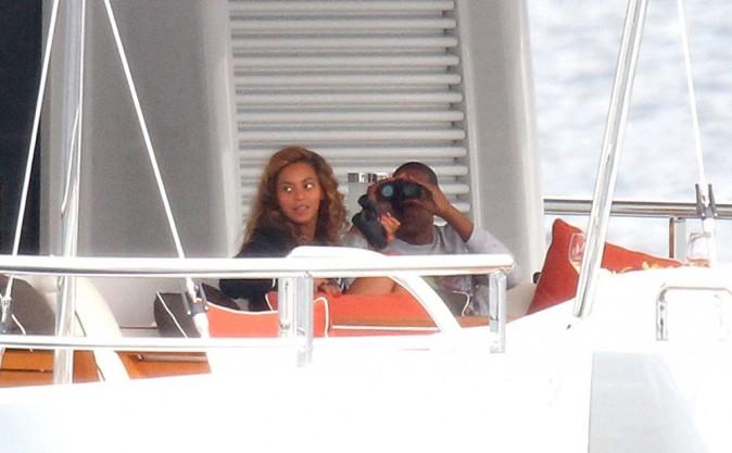 Beyoncé et Jay Z sur un yacht en Méditerranée le 4 septembre 2012