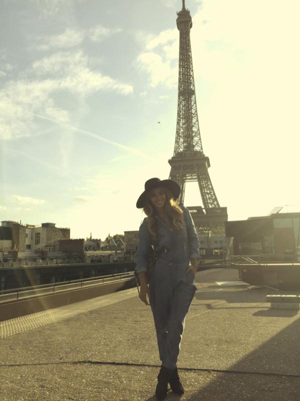 Beyoncé lors de son passage à Paris