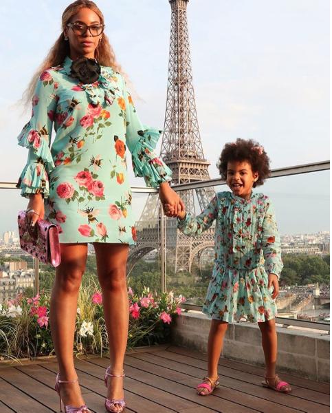 Beyoncé et Blue Ivy à Paris
