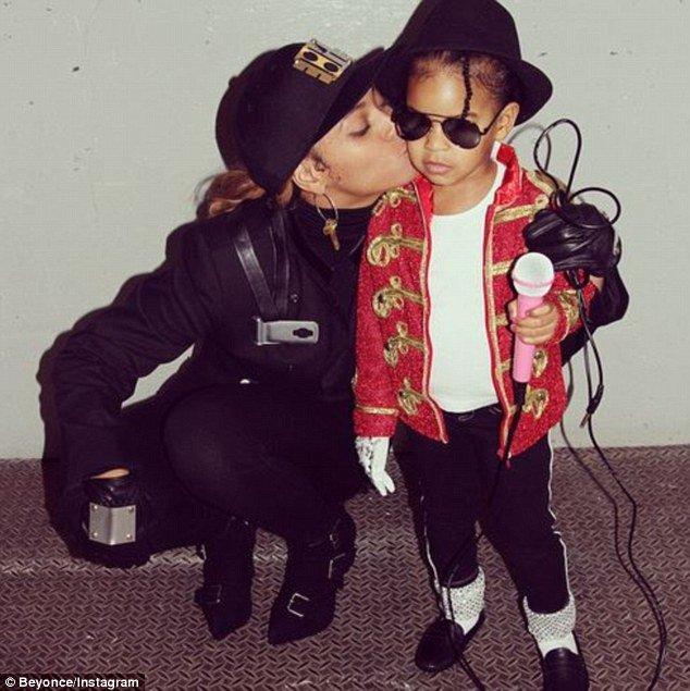 Beyoncé et Blue Ivy à Halloween 2014