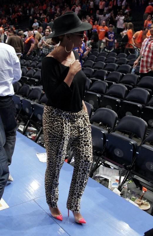 Beyonce au Madison Square Garden à New York, le 15 avril 2012.