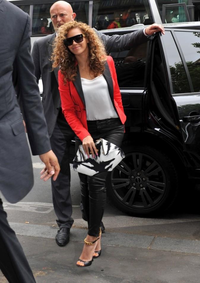 Beyonce arrivant au restaurant La Maison de la Truffe à Paris, le 6 juin 2012.