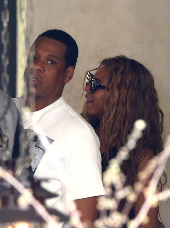 Beyonce, Jay-Z et Blue Ivy, Paris, 25 avril 2013.