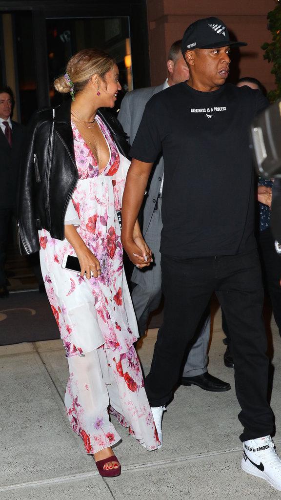 Beyoncé et Jay-Z à la sortie d'un restaurant à New-York