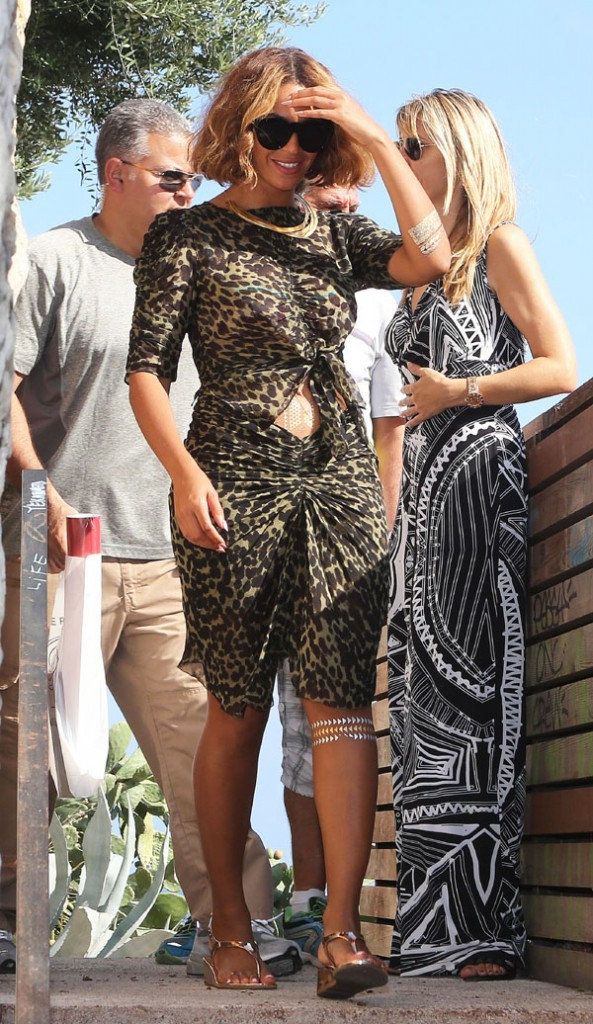Beyoncé et Jay-Z avec leur fille Blue Ivy à Antibes le 9 septembre 2014