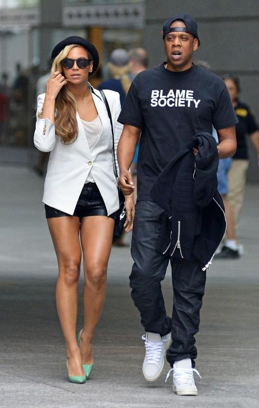 Beyoncé et Jay-Z à New York, le 2 juin 2013.